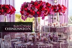 Red and Violet – 48th Wedding Anniversary Party   White Lilac Inc.