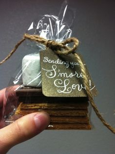 Smores party favors! That would be inexpensive but really cute!