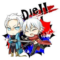 Dante: Virgil give me a hug! . Virgil: no -_-