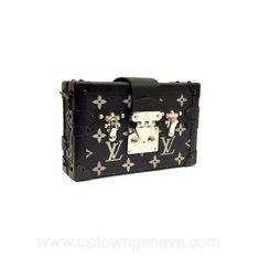 5392030b7824 Louis Vuitton Petite Malle mini bag in black with silver reflective  monogram - Downtown Uptown Genève