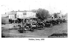 Missouri, Iowa & Nebraska Railway Co. Depot -Weldon in Decatur County, Iowa.