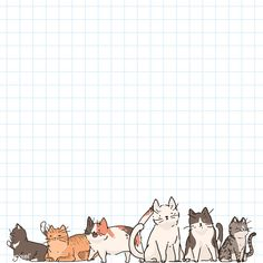 Memo Template, Notes Template, Memo Notepad, Note Doodles, Cat Background, Cute Notes, Journal Stickers, Cat Pattern, Aesthetic Stickers