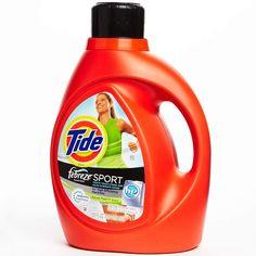 Best Laundry Detergent: Tide plus Febreze Freshness Sport Detergent.  Good stuff....just wish COSTCO sold it!