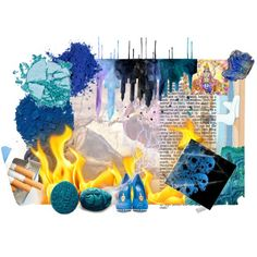 Blue by albamartinez on Polyvore featuring arte