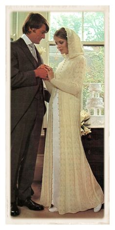 Instant Download PDF Knitting Pattern to make an Ankle Length Lace Wedding Bridal Maxi Coat Cowl Hood in 2 Sizes to fit 32 to 38 inch Bust von YesterdaysMagic auf Etsy https://www.etsy.com/de/listing/122324045/instant-download-pdf-knitting-pattern-to