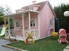 casitas de juegos infantiles en madera