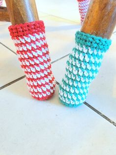 chair socks  . I am so making these! Aunt missy, dont you have square legs?