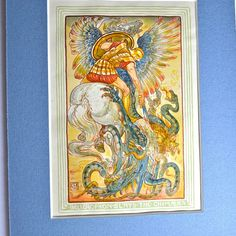 Walter Crane Illustration Antique Matted Print by FeltersCottage, £18.00