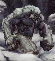 """""""Yeti"""" by Todor Hristov Monster Concept Art, Fantasy Monster, Monster Art, Mythical Creatures Art, Mythological Creatures, Creature Concept Art, Creature Design, Fantasy Character Design, Character Art"""