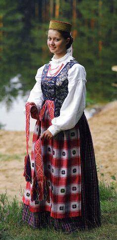 Costume of Dzukija province, Lithuania