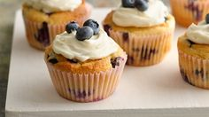 Mix up gluten-free pie dough with eggs, sugar and blueberries and you'll get twelve delicious muffins!