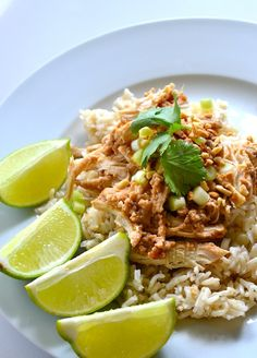 Skinny Crockpot Thai Peanut Chicken | Sunday Suppers with Lunchbox Love