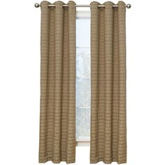 Style Selections 84-in L Taupe Bianca Curtain Panel $36.97