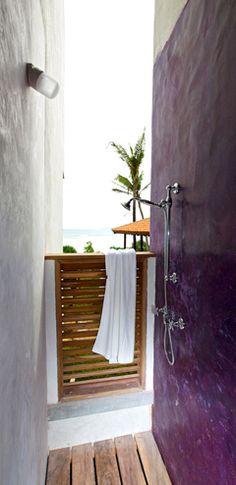 Outdoor Shower - Underneath The Mango Tree Spa & Beach Hotel Resort Sri Lanka Hotel Sri Lanka, Copper Tub, Spa, Mango Tree, Beach Hotels, Villas, Rooms, Shower, Future
