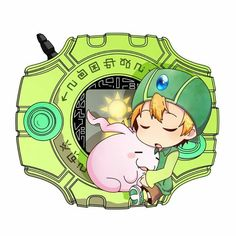 Shouldn't the digivice be yellow? Just saying....