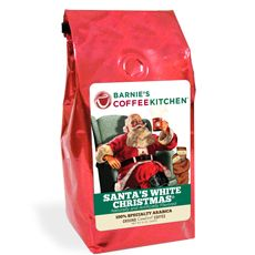 Barnie's Santa's White Christmas coffee - coconut, nuts, sweet caramel and vanilla flavors ... Yummy!