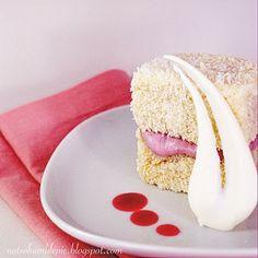 Mmmm.. white choc Raspberry Lamingtons... the boy might like this