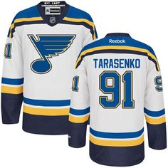 Reebok St. Louis Blues  91 Men s Vladimir Tarasenko Authentic White Away NHL  Jersey Mitchell 3dc4fd734