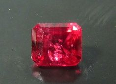 0.67 Fabulous Color Superb Gemstone Rare Red Color Spinel Untreated Emerald Cut #JewelsRoughGems