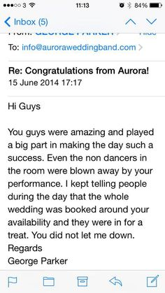 Aurora Wedding Band Scotland