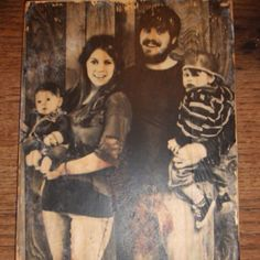 Print a family photo on wood for a timeless look!