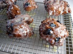 blueberry-cream cheese fritters. these are perfect for lazy sunday mornings!