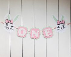 Bunny Themed Pink and Mint High Chair Banner for Girl First Birthday, ONE Banner, Photo Shoot Prop for First Birthday Girl First Birthday, Boy Birthday Parties, Birthday Ideas, Birthday Celebration, Minnie Mouse Party Decorations, Birthday Decorations, Hawiian Party, Hot Wheels Party, High Chair Banner