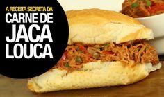 Como fazer CARNE DE JACA LOUCA (Super Fácil • Vegan) 90#VegetariRANGO