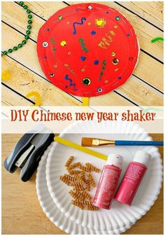 Chinese New Year Shaker - In The Playroom This DIY Chinese New Year Shaker craft for kids is a fun way to celebrate and learn about CNY festivities Chinese New Year Crafts For Kids, Chinese New Year Activities, Chinese Crafts, New Years Activities, Crafts For Kids To Make, Art For Kids, Chinese New Year Music, Eyfs Activities, Nursery Activities