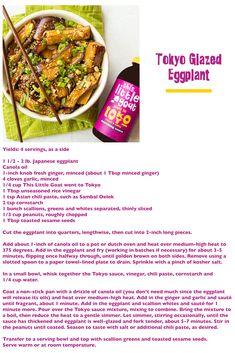 Goat Recipes, Sambal Oelek, Canola Oil, Rice Vinegar, Fresh Ginger, Eggplant, Glaze, Chili, Garlic