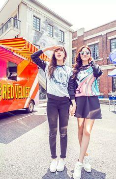 Red Velvet Wendy & Yeri Kpop Fashion for Metersbonwe 2015