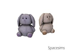 A sweet bunny toy to decorate your Sims' kids' rooms. Found in TSR Category 'Sims 4 Miscellaneous Decor'