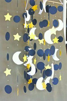 Ay ve Yıldızlı Duvar Süsü