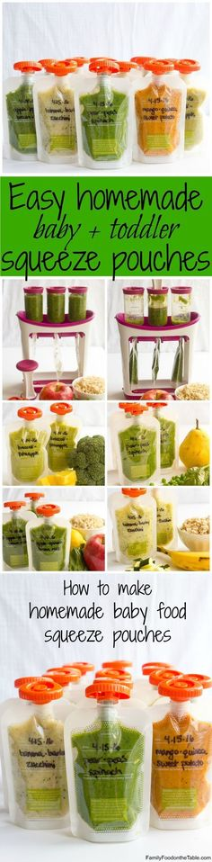 Homemade baby food pouches