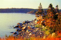Sunrise, Cape Breton, Nova Scotia, aug 1974.