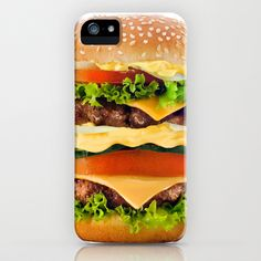 Cheeseburger YUM iPhone & iPod Case by All Is One - $35.00 #iphonecase #food