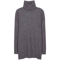 Stella McCartney Wool-Blend Turtleneck Sweater (5.468.015 IDR) ❤ liked on Polyvore featuring tops, sweaters, gray turtleneck sweater, grey turtleneck, stella mccartney top, stella mccartney sweater and grey top