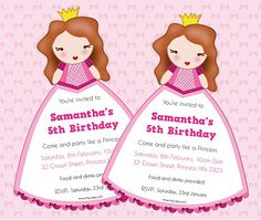 FREE Princess Invite - Editable Text