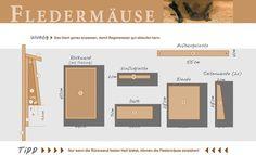 NABU Bauanleitung für einen Fledermauskasten. Nistkasten für Wald- und Hausfledermäuse.