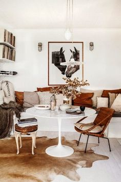 masculine chic - leather antiques with modern elements