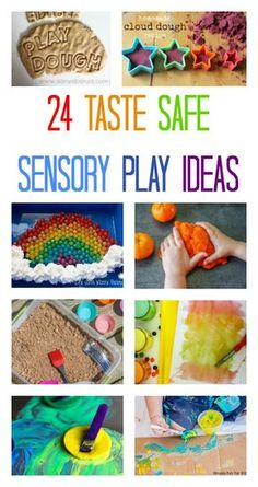 taste safe sensory play recipes, sensory play for babies, toddler sensory play ideas, edible sensory play recipes Edible Sensory Play, Sensory Play Recipes, Baby Sensory Play, Sensory Bins, Baby Play, Science Activities For Kids, Sensory Activities, Infant Activities, Clever Kids