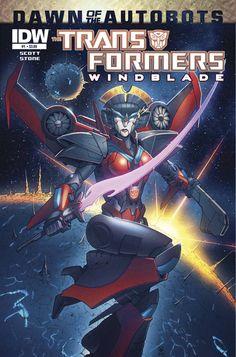 Transformers: Windblade, a rare female-type robot!