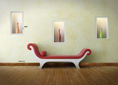 Foloseste ancadramentele pentru a marca intr-un mod perfect, elementele de decor de pe perete!