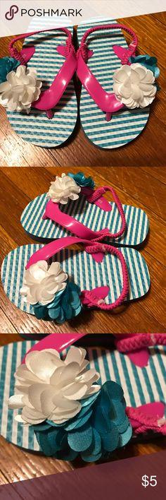 NWOT flip flops Super cute! Never worn! Size 5/6 Shoes Sandals & Flip Flops