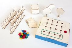 Primo is a wooden play set designed to teach young children the basic principles of computer programming.