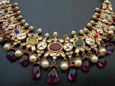 8 Different Kinds of Traditional Wedding Jewellery. India Jewelry, Temple Jewellery, Gold Jewelry, Diamond Jewellery, Gemstone Jewelry, Mode Blog, Topas, Jewelry Patterns, Necklace Designs