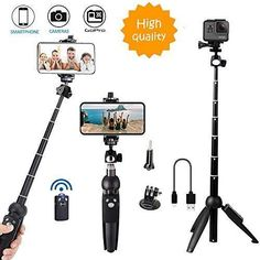 Foxnovo Selfie Stick 360/°Rotation Auto Face /& Object Tracking Smart Shooting Camera Phone Mount Vlog Shooting Smartphone Mount Holder with All iPhone and Android Phone