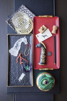 Personal Spaces, May 2013 Issue - Trays of objets dart and mementos