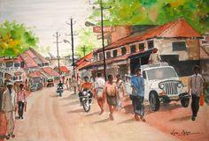 South Canara Village Scene,Karnataka