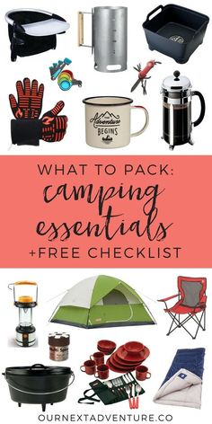What essential gear do you need for a success family camping trip? Get a free camping essentials checklist now! // Plan Camping Trip What to Pack Camping Gear Camping Essentials Camping with Kids Glamping Gear What to Buy for Camping Camping Ideas, Camping Hacks With Kids, Camping Must Haves, Camping Supplies, Camping Activities, How To Pack For Camping, What To Bring Camping, Camping Crafts, Zelt Camping